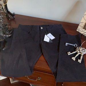 Armani Exchange black jeans size 30 slim fit NWT